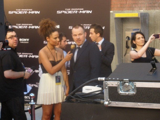 Marc Webb en Premier de Spiderman en Madrid.