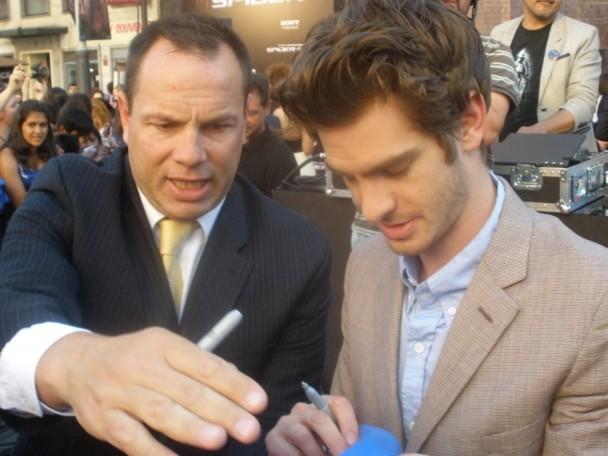 Andrew Garfield premiere The Amazing Spiderman Madrid
