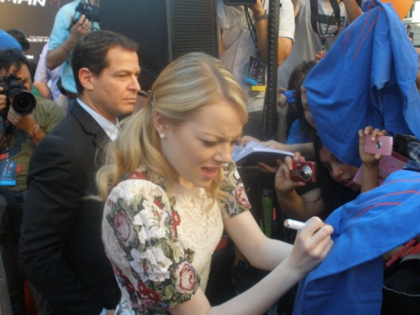 Emma Stone Premier Madrid The Amazing Spiderman.