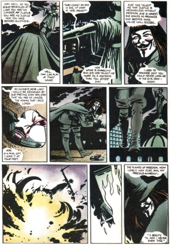 Cómic de V de Vendetta