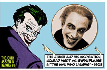 Comparación entre Joker en su primera aparición y Conrad Veidt