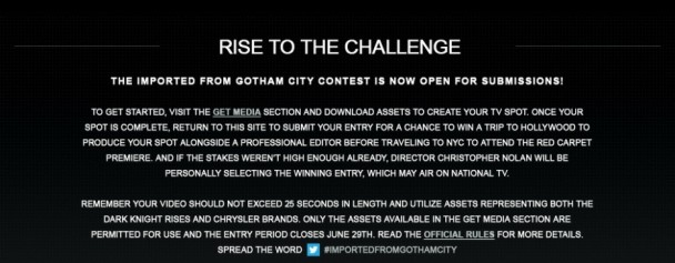 concurso the dark knight rises