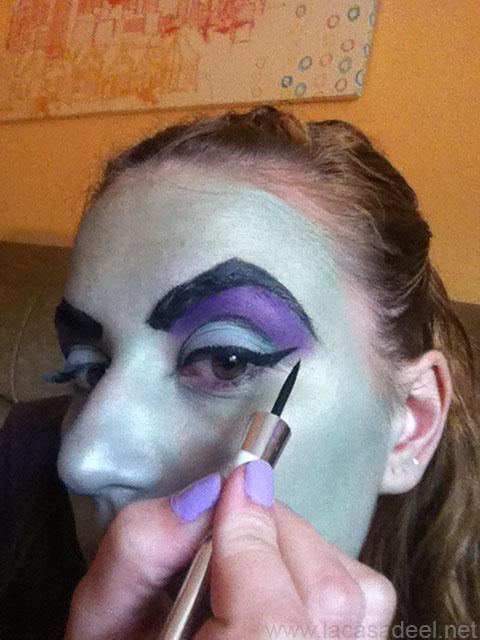 maquillaje cosplay malefica 10