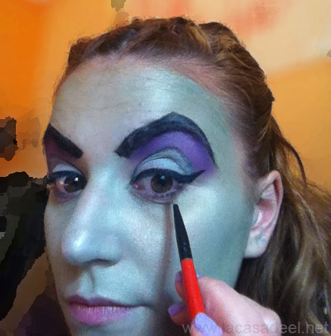 maquillaje cosplay malefica 13