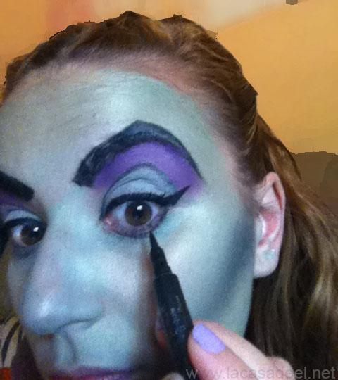 maquillaje cosplay malefica 17