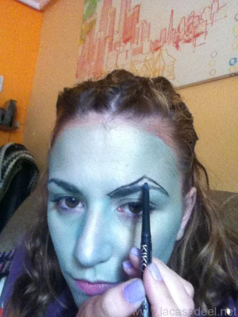 maquillaje cosplay malefica 3