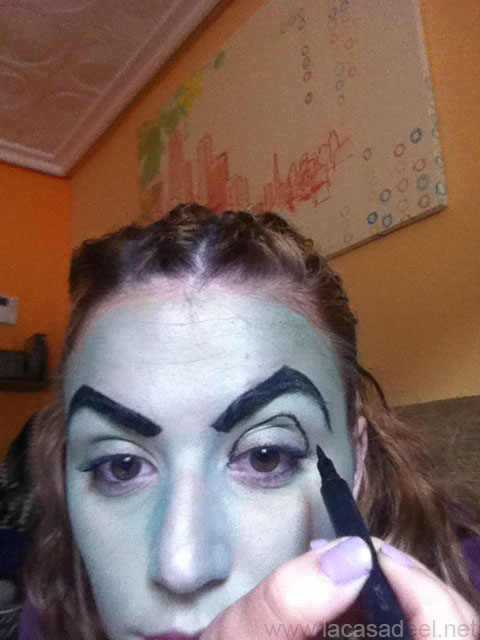 maquillaje cosplay malefica 5