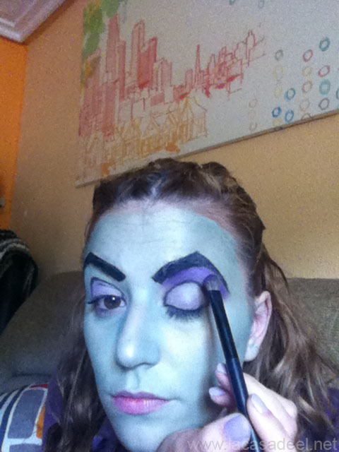 maquillaje cosplay malefica 9