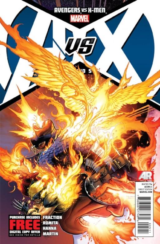 Portada de Avengers Vs. X-Men 5
