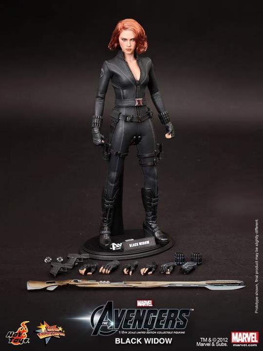 viuda negra vengadores hot toys