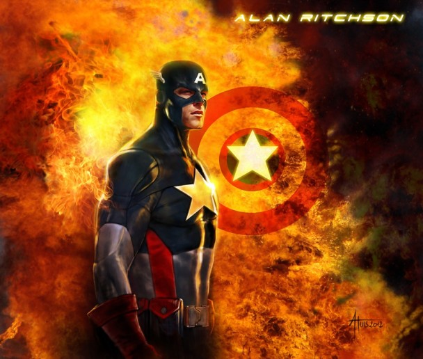 Alan ritchson capitan america