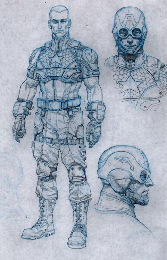 Diseño del Capitán América para Marvel NOW!