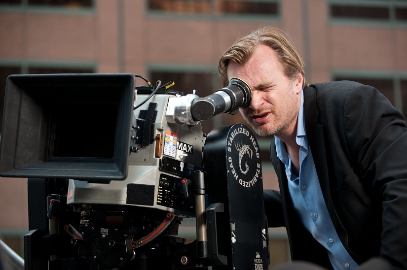 Christopher Nolan en el rodaje de The Dark Knight Rises