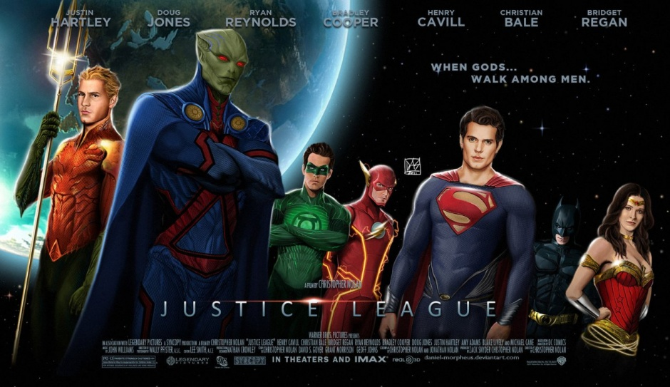 Fan art de la liga de la justicia