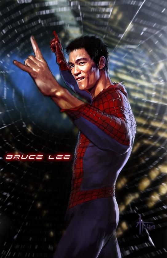 bruce lee spiderman