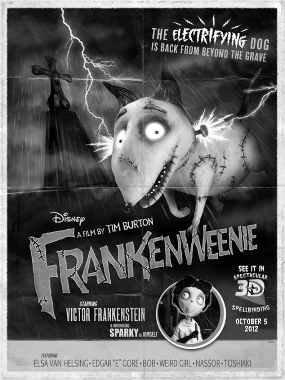 frankenweenie poster terror clasico