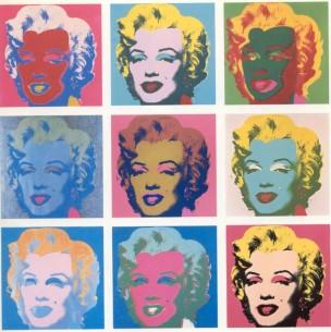 Marilyn Monroe vista por Andy Warhol