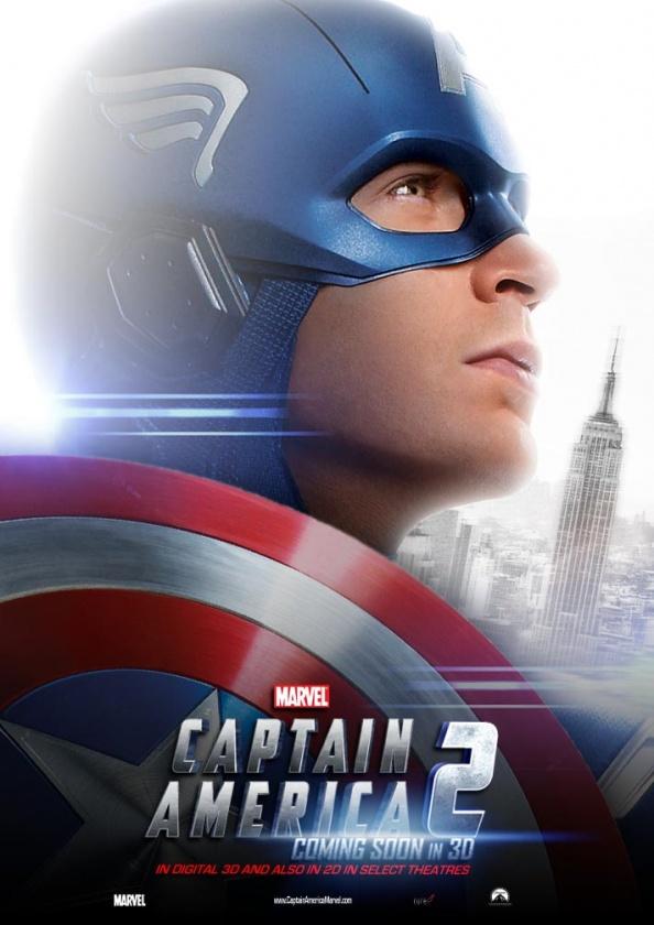 """Póster fan made de """"Capitán América 2: Soldado de Invierno"""""""