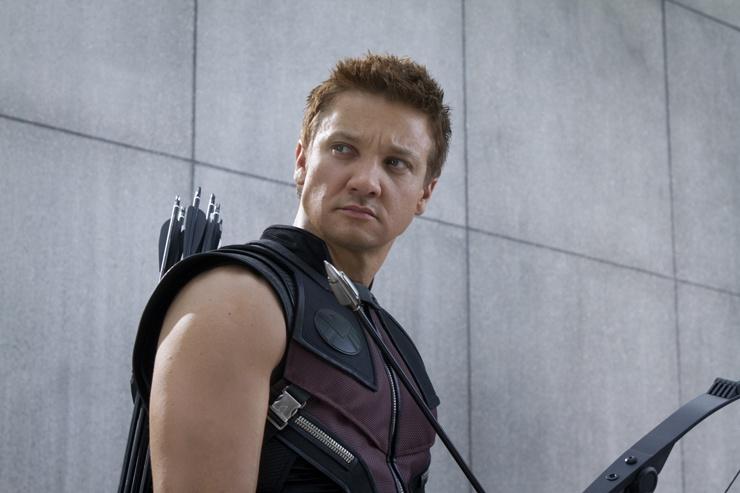 """Jeremy Renner como Hawkeye en """"Los Vengadores"""""""