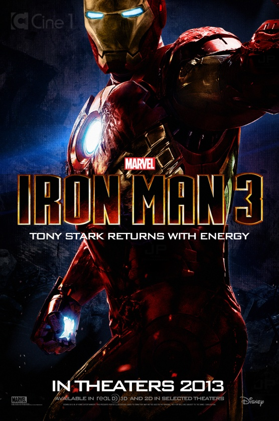 "Póster fan made de ""Iron Man 3"""