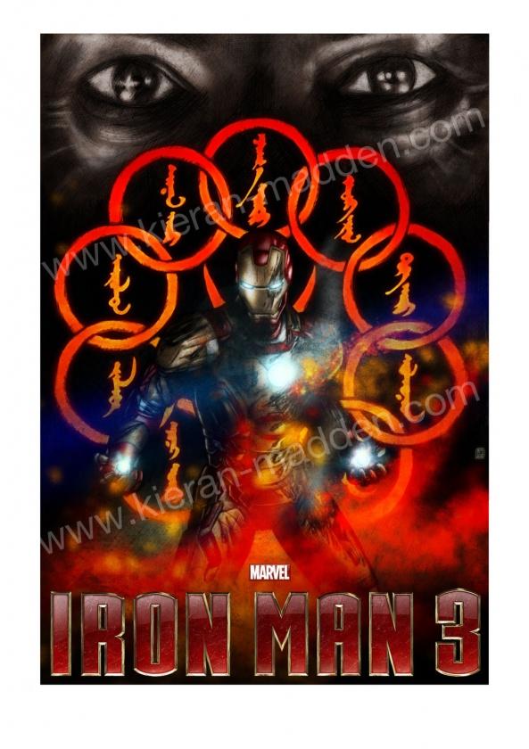 """Póster fan made de """"Iron Man 3"""""""