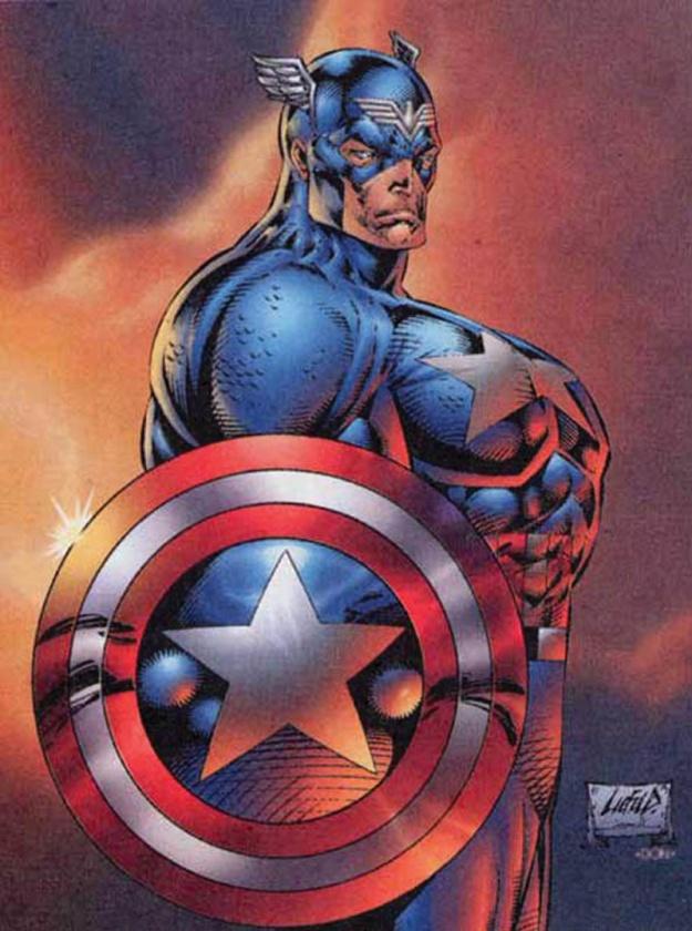 Capitán América de Rob Liefeld