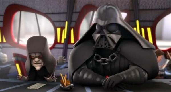 Star Wars Detours Vader y Palpatine