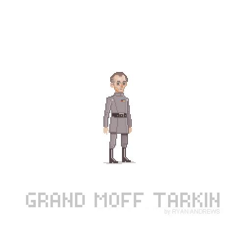 Arte en pixeles de Wilhuff Tarkin