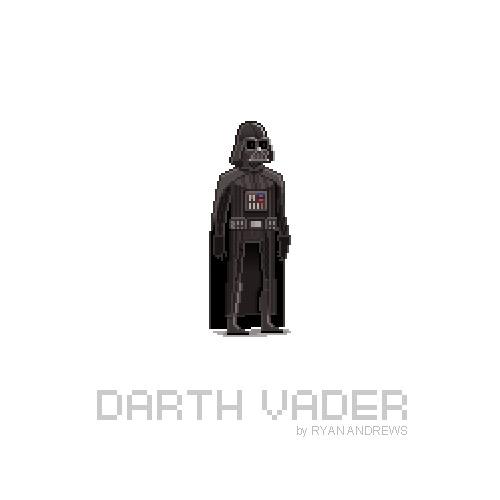 Arte en pixeles de Darth Vader