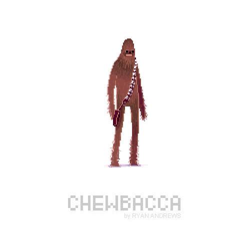 Arte en pixeles de Chewbacca