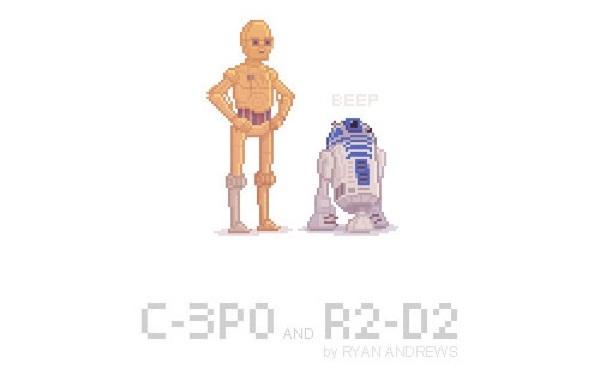 Arte en pixeles de Star Wars