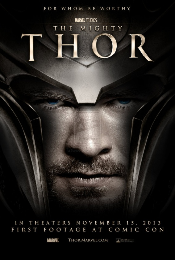 "Póster fan made de ""Thor 2: The Dark World"""