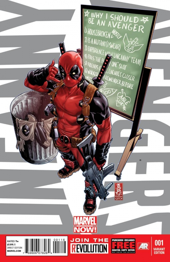 Deadpool en portada alternativa de Uncanny Avengers #1