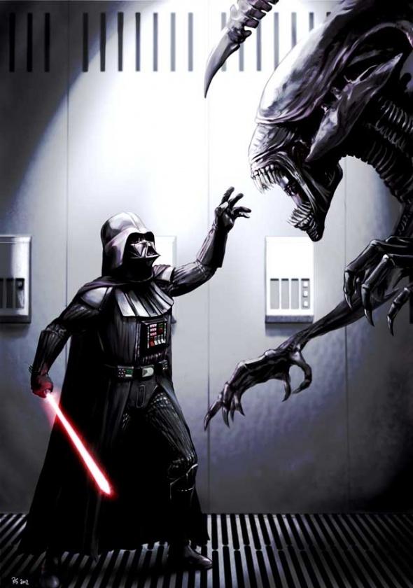 darth vader Aliens