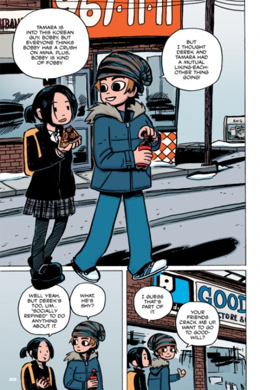 Página de Scott Pilgrim a color