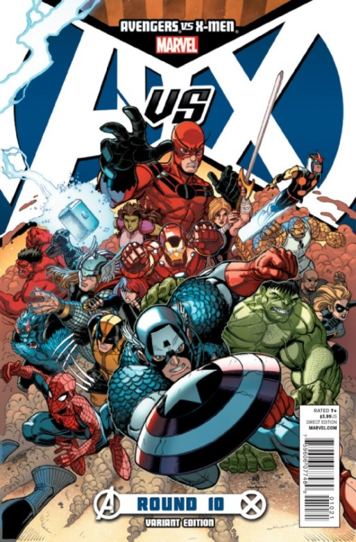 Portada del Avengers Vs. X-Men 10