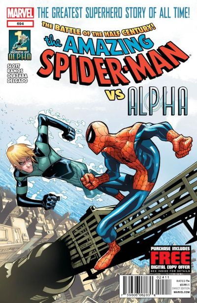 Portada del Amazing Spider-Man 694