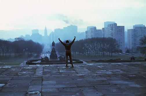 Rocky escaleras Filadelfia