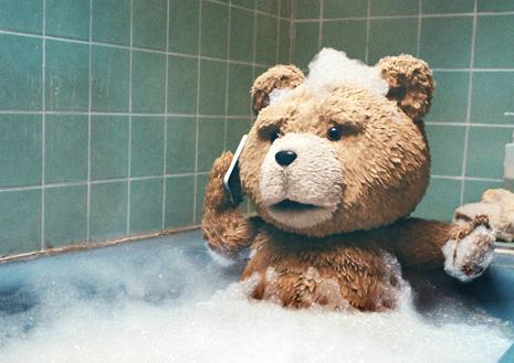 Ted en el baño