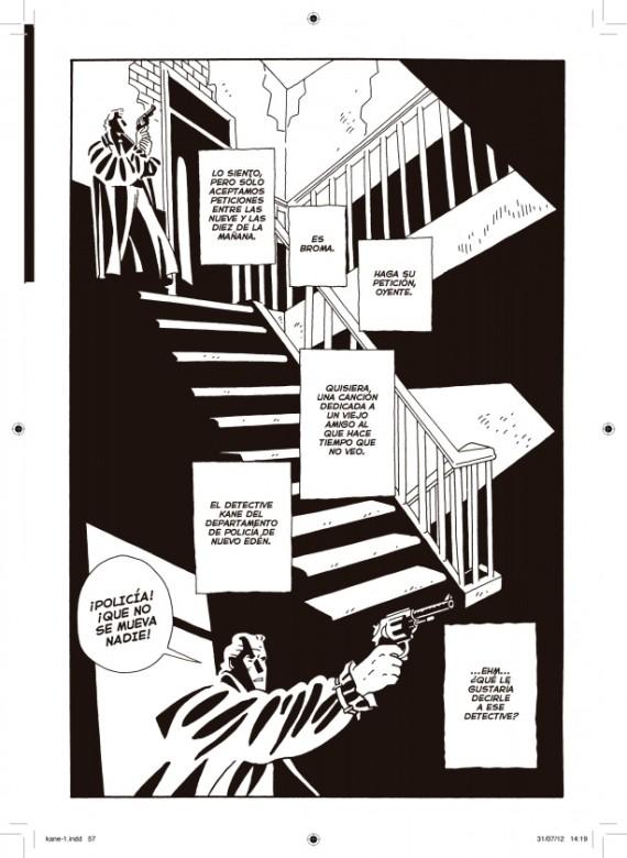 Página del primer volumen de Kane