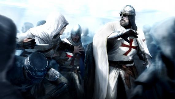 Altaïr atacando a un templario