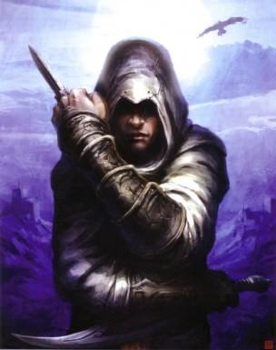 Altaïr con la hoja oculta