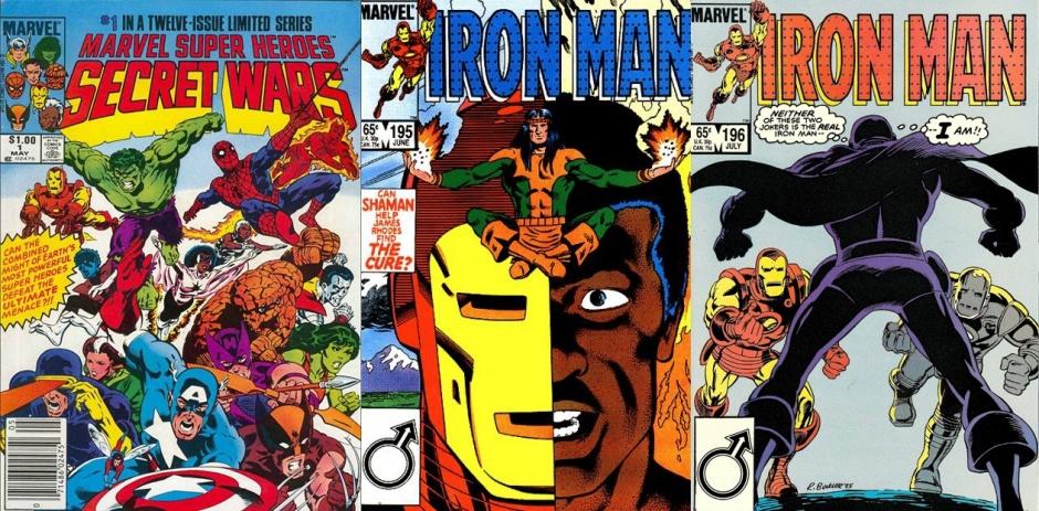Guerras Secretas #1, Iron Man #195 y Iron Man #196