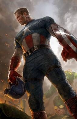Portada alternativa para el primer número del Capitán América en Marvel Now!