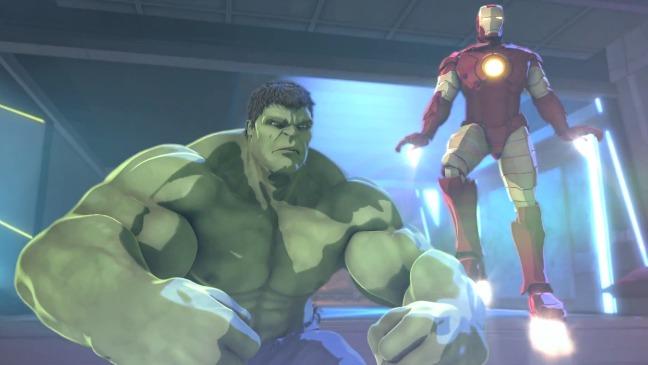Iron Man y Hulk en Heroes United