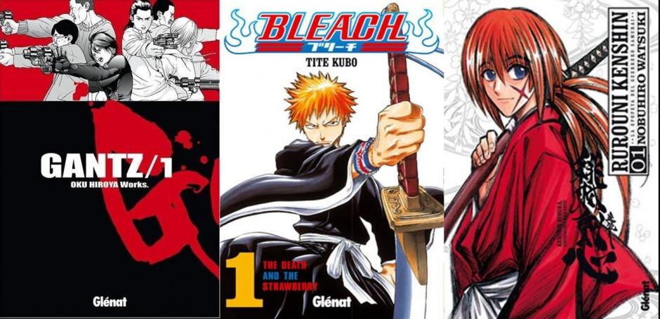 La portada de Kenshin, Gantz y Bleach