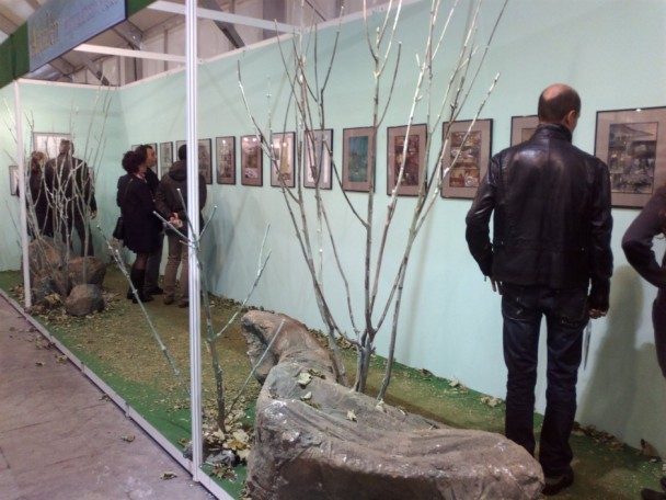 Una vista de la exposicion dedicada a Miguelanxo Prado
