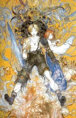 Ilustración-Tidus-Yuna-de-Yoshitaka-Amano