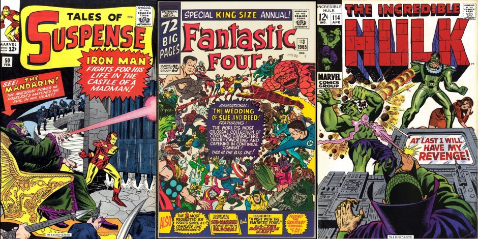 Tales of Suspense #50, Fantastic Four Annual #3 y The Incredible Hulk #114