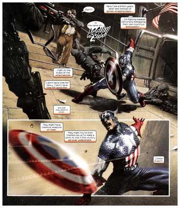 El Capitán América por Gabrielle Dell'Otto